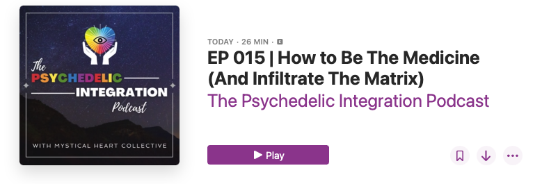 How to Be The Medicine and Infiltrate The Matrix psychedelic integration podcast